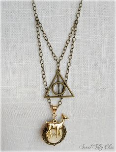 Harry Potter Always Necklace, Deathly Hallows Doe Patronus Always Pendant Long Necklace,Harry Potter Jewelry, Harry Potter Gift