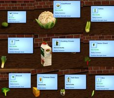 Green Vegetable Plants,Ingredients and Recipes by icemunmun - Sims 3 Downloads CC Caboodle