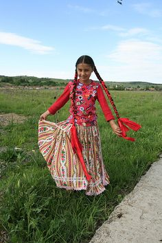 Crăciuneşti, Mureş County, Transylvania: traditional Gypsy girl costume by TudorSeulean, via Flickr