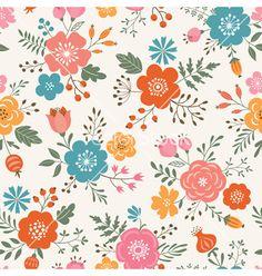 Flower pattern vector by fireflamenco on VectorStock®