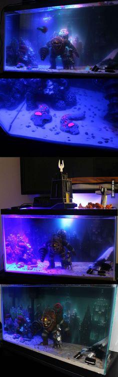 Made a little Bioshock fish tank.