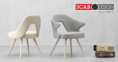 Fabric chairs and armchairs design by Scab Design