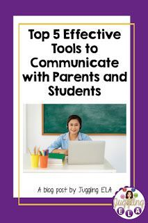 Top 5 Effective Tools to Communicate with Parents and Students a Blog Post by Juggling ELA #backtoschool #communicationwithparents #advicefornewteachers #distancelearning #virtuallearning #technologyintheclassroom Teaching Activities, Teaching Strategies, Teaching Tips, Behavior Management System, Classroom Management, First Year Teachers, New Teachers, School Resources, Teacher Resources
