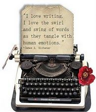 """I love writing. I love the swirl and swing of words as they tangle with human emotions."" Lovely."