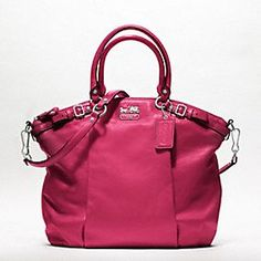 The Coach Madison Leather Lindsey Satchel