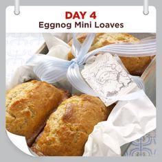 25 Days of Christmas Cheer :: Day 4 :: Eggnog Mini Loaves Recipe