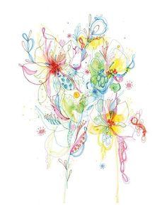 Grafik Zeichnung von Aquarell  Mischtechnik  Zeichnung  von siiso