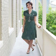 Show off your retro style with the Irish Polka Sweetie Dress! #trashydivairishpolka #trashydivasweetiedress