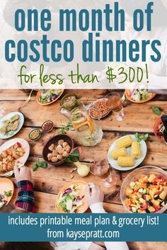 One Month of Costco Dinners for less than $300