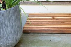 How to make a stained cedar doormat.