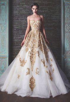 dress white dress gold dress white and gold dress ball gown long dress bustier dress evening