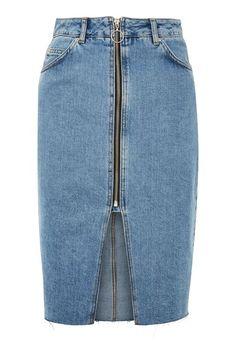751ec97b64ee MOTO Zip Through Denim Midi Skirt Moto Jeans, Denim Skirt, Midi Skirt, Shops