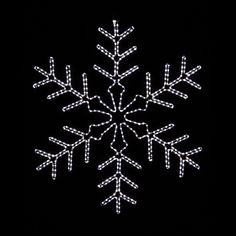 snowflake lights outdoor photo - 8