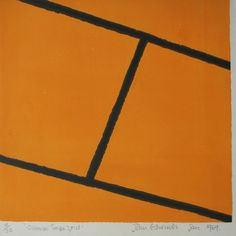 John Edwards - Orange Trapezoid  Lithograph 1969. Available on www.retrosixty.co.uk  #modernbritish #art
