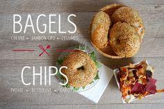 Blog Cuisine & DIY Bordeaux - Bonjour Darling - Anne-Laure: Battle Food #11 : Bagels Jambon cru x Chèvre x Miel et Chips de Légumes