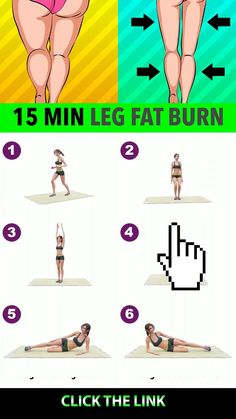 15 Min Leg Fat Burn Simple, quick workout routine to lose leg fat at home and get a slimmer lower Full Body Gym Workout, Gym Workout Videos, Gym Workout For Beginners, Abs Workout Routines, Butt Workout, At Home Workouts, Pilates Workout, Slimmer Legs Workout, Underarm Workout