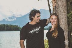 Love when we get lucky and have warm days in September! We had a change to photograph this lovely couple at Two Jack Lake in Banff National Park! The 38 Photography - Engagement Photography