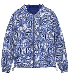 VERSACE REVERSIBLE HOODED PRINTED NYLON JACKET