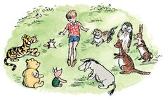 Christopher Robin sat them all down, the pupils on one side and the teachers on the other