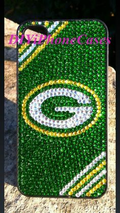 iPhone Case green bay packer Bling Phone Cover Galaxy Case-Custom Galaxy Note 3 Case iPhone Case Bling Case iPhone Cover by DIYiPhoneCases on Etsy Iphone 5s Covers, Iphone 5c Cases, 5s Cases, Cool Phone Cases, Phone Cover, Green Packers, Packers Gear, Green Bay Football, Go Pack Go