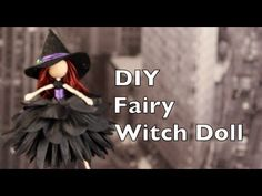 DIY Halloween Decorations | Witch Fairy Doll Tutorial with Emilie Lefler - YouTube Video 12:49 min ..This tutorial will teach you how to make a Flower Fairy Witch Doll using floral wire, a wooden bead, embroidery floss, a silk flower, and felt. For detailed instructions on how to make a Basic Flower Fairy Doll please check out my tutorial: http://youtu.be/KYa5iifGl4A