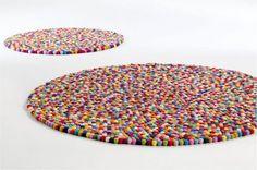 Tapete de lã de feltro
