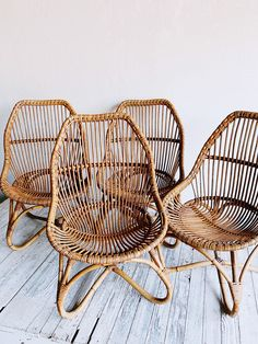 Bamboo Table & Four Rattan Lounge Chair Set, Home Accessories, vintage bamboo chairs. Rattan Furniture, Vintage Chairs, Deco Design, My New Room, Chair Design, Home Accessories, Lounges, Interior Design, Bamboo Chairs