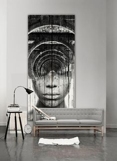 cyclops , collage over old wood planks, 220x 90 cms, artwork antoniomora