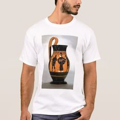 Shop Attic black-figure olpe depicting Athena Confronti T-Shirt created by bridgemanimages. Black Figure, Fitness Models, Casual, Sleeves, Mens Tops, Cotton, How To Wear, T Shirt, Shopping