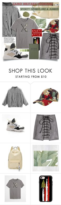 """""""Sporty combo,like a jumbo!🐊"""" by jelena-bozovic-1 on Polyvore featuring adidas Originals, Express, Casetify and Tanner Goods"""