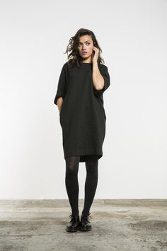 Tess pique by-bar - new collection hameasut, tyylikkäät asut, dr martens, t Mode Outfits, Fashion Outfits, Womens Fashion, Fashion Trends, Dr. Martens, Black Dresses For Juniors, Style Casual, My Style, Stylish Dresses