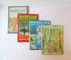 Four Madeline Retired Library Books - By Ludwig Bemelmans - Instant Collection. 19.00$, via Etsy.