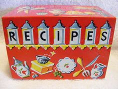 Love the type.  I have a collection of recipe boxes