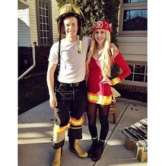 Firefighters: Stoke the flame of your romance with matching firefighter costumes.