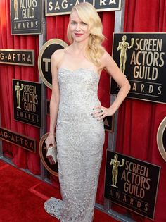 Naomi Watts in Marchesa -- My pick for best dressed of the night :) 2013 SAG Awards