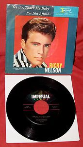 RICKY NELSON 1960 RARE 45 RECORD PICTURE !