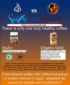 Organo Gold vs. SoZo - And The Winner Is? SOZO - Made from 100% Arabica Beans and the whole coffee fruit - Best In Class Product!
