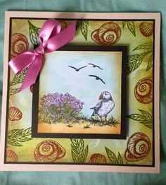 "Sheena Douglass is releasing two new sets in the ""A Little Bit Scenic"" line tomorrow! Oh my goodness, just look at the gorgeous samples . Sheena Douglass, Spectrum Noir, Crafters Companion, Stamp, Birds, Pens, Feathers, Card Ideas, Crafting"