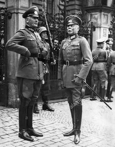 Werner von Blomberg with Hans von Seeckt, 1936.