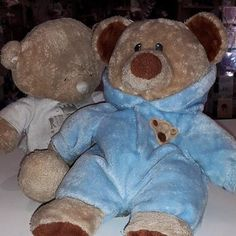 FOUND-Jersey. 2 well loved bears were found on a bench in Liberty Wharf Shopping Centre.