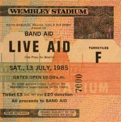 Is Your Life a Masterpiece? Bob Geldof, Live Aid, Wembley Stadium, Band Aid, Thought Provoking, Rock And Roll, Ticket, In This Moment, Life