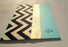 #Handmade #Chevron Thank You Greeting #Card Set by PrincessKCreations, $25.00