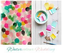 This is pretty close to the colors of my craft room. What fun! Party Invitations, Party Favors, Favours, Invites, Old School Wedding, Diy Craft Projects, Diy Crafts, Tableaux D'inspiration, Watercolor Wedding