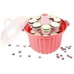 Giant Cupcake Carrier - A cake caddy for cupcakes where they won't slide all over the place. Sold and Target and Amazon