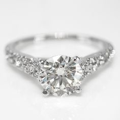 1.25 Cttw G VS Round Diamonds Solitaire Engagement Ring in 14K White Gold by…