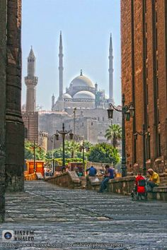 How Beautiful Is That ?! The Muhammad Ali Mosque As Shown From The Passage…