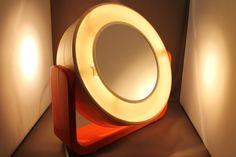 Limburg Tulip Lampe Milchglas 70er Jahre Design Lamp D: 50cm