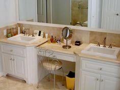Traditional | Bathrooms | Judith Balis : Designer Portfolio : HGTV - Home & Garden Television Traditional Bathroom, Traditional Dining Rooms, Granite Bathroom, White Bathroom, Bathroom Cabinets, Granite Backsplash, Bedroom Photos, Dream Bath, Portfolio Design
