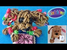"Loom Bands / Rainbow Loom dog ""Webkinz Gingerbread Puppy"" inspired by Ganz tutorial by DIY Mommy. Rainbow Loom Christmas, Rainbow Loom Charms, Rainbow Loom Bracelets, Cord Bracelets, Rainbow Loom Tutorials, Rainbow Loom Creations, Rainbow Loom Animals, Loom Love, Free Activities For Kids"