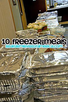 10 Freezer Meal Recipes.